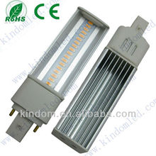 G24/G23 /E27 led 9W LED PL light, Isolating driver
