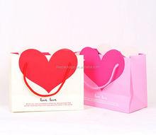 Dongguan trade assurance factory supply loving and joyful handbags wholesale and custom-made white cardboard bag gift bags