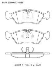 For BMW M3 L6 524td 528e 533i 535i 635CSi Brake Pad 34111157510 D253 D395 20629 20659 20757