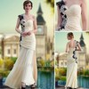 AXC5517 Hot selling fashion girls party dresses elegant one shoulder sweetheart long mermaid evening dresses made in china