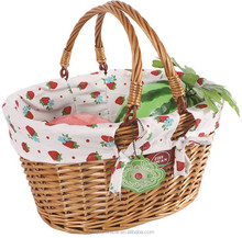 Hot- sale wicker shopping basket with handle on sale in China