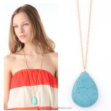 wholesale jewelry fashion jewelry 2015 wholesale 2015 beautiful gold pendants necklace natural turquoise pendant necklace