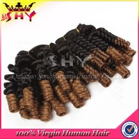 100% virgin brazilian human hair ombre color micro braids on weft