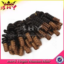 100% virgin brazilian human hair ombre color micro braids on weft
