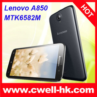 China Brand Mobile Phone Lenovo A850 3G Smartphone 5.5 Inch MTK6582 Quad Core Android 4.2 1GB 4GB 5MP Wifi GPS Unlocked