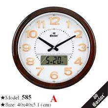 Clear wall clock round digital wall clock in western style