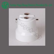 Wholesales white plastic PBT solder free B22 lamp cap
