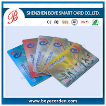 high end printing transparent plastic gift card, membership card