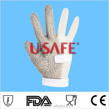 CE with cut level 5 stainless steel ring mesh cut resistant butcher gloves