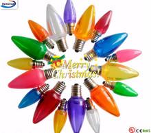 led festival holiday christmas C7 light e12 120v wedding decoration lighting