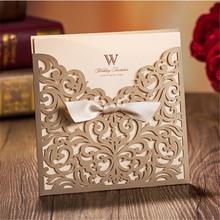 unique luxury customized wedding invitation card envelope melody chip