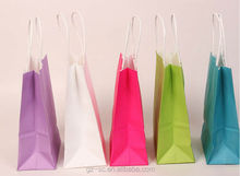 Custom made various paper packing bags, gift bags, shopping bags