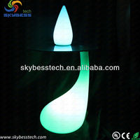 cocktail bar table glass coffee table LED light furniture light table