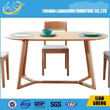 MDF top beech wood legs dining table china supplier alibaba express cheap restaurant tables and chairs laptop table