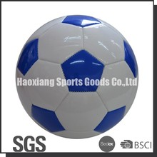 machine stitched blue and white cheap ball with pvc