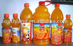 OEM orange juice with pulp in different volume