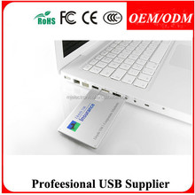 FREE SAMPLE , 1GB plastic credit name card usb pen drive usb stick papal available