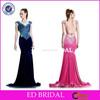 Bling Bling Beaded Crystal Cap Sleeve Backless Velvet Mermaid Long Evening Dresses From Dubai