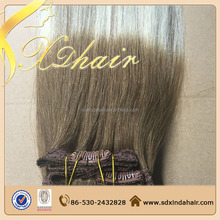 2015 hot sale high quality remy clips in human hair extensions