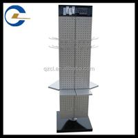 Supermarket simple sheet metal wire metal display racks pegboard display stand