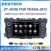 for nissan teana accessories car gps dvd 2013/bluetooth/radio/A8 chipset/FM/AM ZT-N705