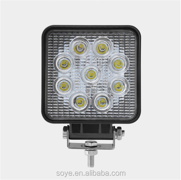 High quality 4inch 27w led work light for offroad vehicles