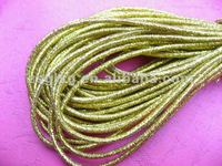 Provide high quality gold round elastic band.