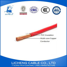 Hot sale PVC insulated flexible copper wires and cables house wiring 1.5mm2