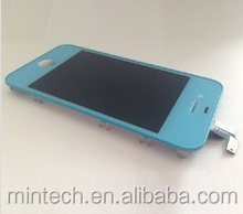 Wholesale factory price Replacement LCD assembly For iPhone 4 4s blue
