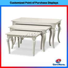 Good quality modern design shopping mall wood clothes display stand
