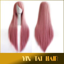 80Cm 250g Drag Queen Manic Panic Wigs Harajuku Anime Cosplay Wigs Heat Resistant Long Straight Synthetic Wig With Bangs Perruque