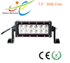 """Jeep Wrangler accessories 7.5"""" 36W Cree led light bar for offroad 4x4 vehicle,atv,suv ,truck"""