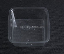 7oz PET square disposable clear plastic food container for cheesecake/dessert container
