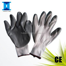 13G Nylon liner 1/2 yellow/ red nitirle dipped working gloves nitrile