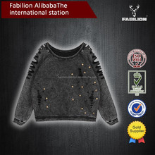 2015New Products European style stitching Pierced for custom rivet t-shirt