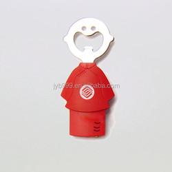 hot sale fashion silicon kids shape souvenir beer bottle opener
