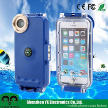 with compass diving swimming plastic ipx8 water proof case for iphone 6