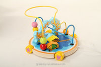 wooden bead maze toy wooden car for kids