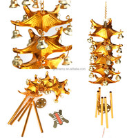 1pc Best Price Chinese Oriental Lucky Metal 5 Rods Pagoda Feng Shui Brass Wind Chime Bell a symbol of good luck