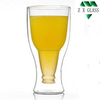 Hand Made Brosilicate Double Wall Glass Beer Cup /ice tea cup /double wall glass espresso cup 350ml