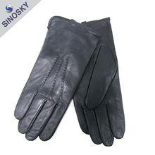 Promotional best quality fashion design warm leather glove motorcycle