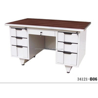 Hot Selling 34121-B06 Metal Office Table with Drawers/High Gloss Desk