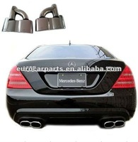 High quality and hot sale stainless steel S65 style muffler tips exhaust tips end pipes for BZ S-CLASS W221 06-12
