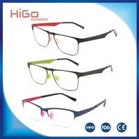 LATEST FASHION METAL EYEWEAR HIGH QUALITY STAINLESS STEEL OPTICAL FRAME WOMEN MEN SPECTACLE