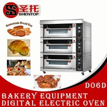 Shentop STBC-D06D 3 layers 6 trays Digital electric oven for bakery equipment in china deck oven