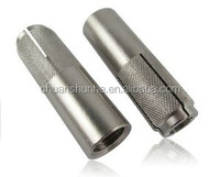Zinc plated Drop in anchor with half Knurling