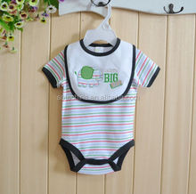 2015 SUMMER HOT WHOLESALE BABY KNITTED BODY WITH BIB 100%COTTON SOFT FABRIC CHINA SUPPLIER