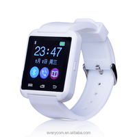 Latest cheap touch screen wrist bluetooth bracelet smart watch mobile phone U8 with MIC/G-sensor/Music Player for android phone