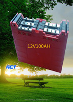 deep cycle polymer 12V 100AH/200AH/300AH lithium ion battery for storage and car