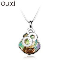 OUXI fashion gold plate pendant necklace wholesale silver jewelry Y30056